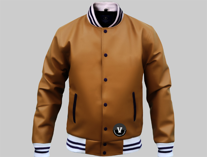 Letterman Jackets Brown Leather | Design or Buy Online Varsity Jackets