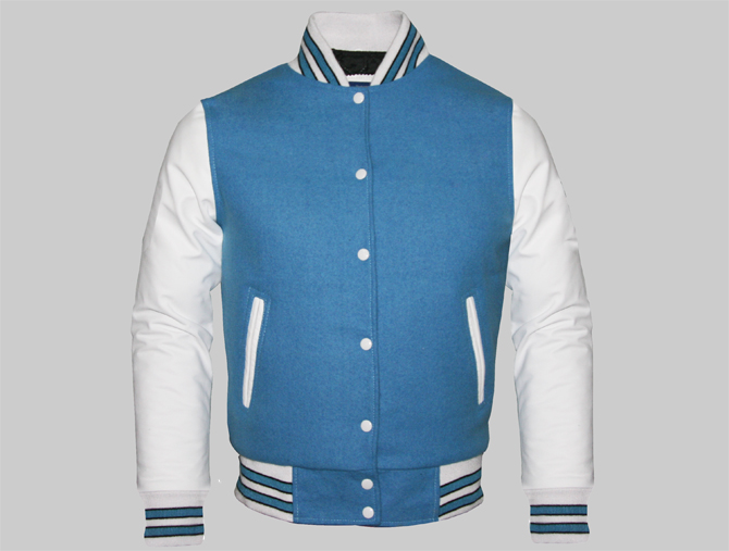 blue wool Letterman Jackets columbia and made of Cheap white Custom g7qnCvqY
