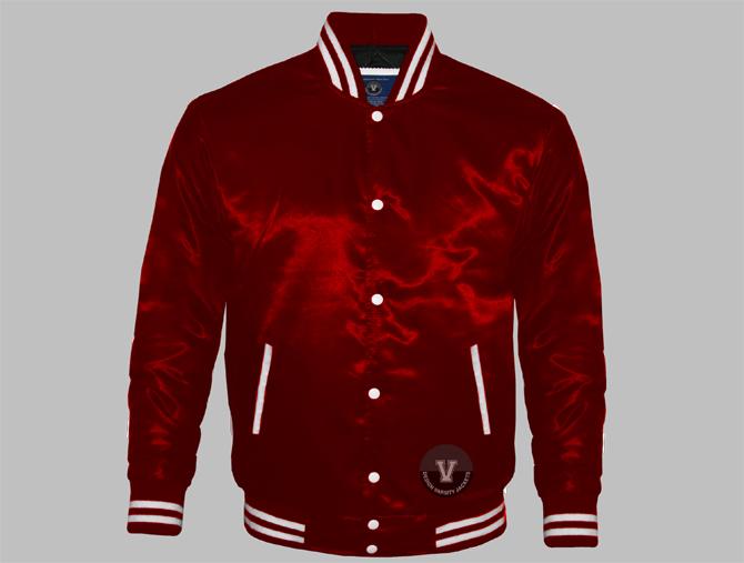 Men Satin Varsity Jackets   Design Your Own Varsity Jackets